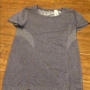 Purple workout shirt